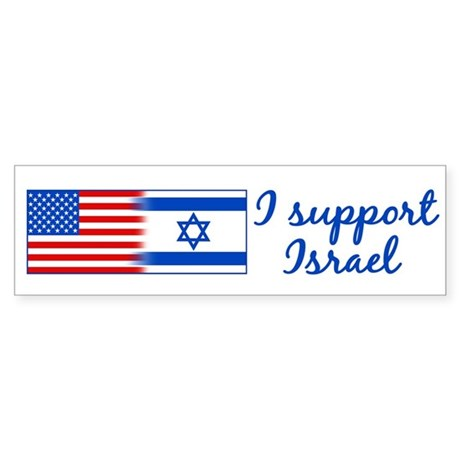 Support Israel Sticker (Bumper)