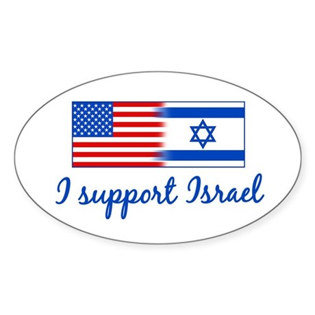 Support Israel Sticker (Oval)