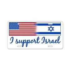 Support Israel Aluminum License Plate