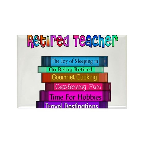 Retired Teacher Rectangle Magnet