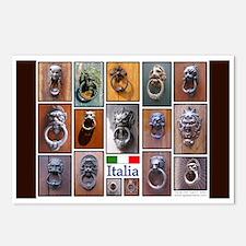 Italian Doorknocker Postcards (Package of 8)