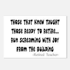 Retired Teacher Postcards (Package of 8)