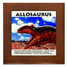 Allosaurus Art Framed Tile