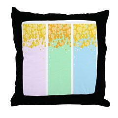 Pastel Columns with Bubbles Throw Pillow