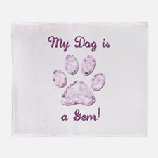 Dog Gem Throw Blanket