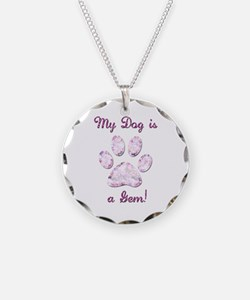Dog Gem Necklace
