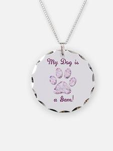 Dog Gem Necklace