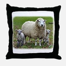 Sheep and Lambs 9R12D-35 Throw Pillow