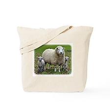 Sheep and Lambs 9R12D-35 Tote Bag