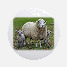 Sheep and Lambs 9R12D-35 Ornament (Round)