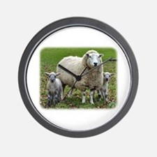 Sheep and Lambs 9R12D-35 Wall Clock