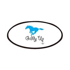 Giddy Up Blue Horse Patches
