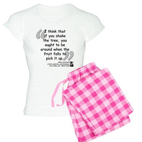 Cassatt Fruit Quote Women's Light Pajamas