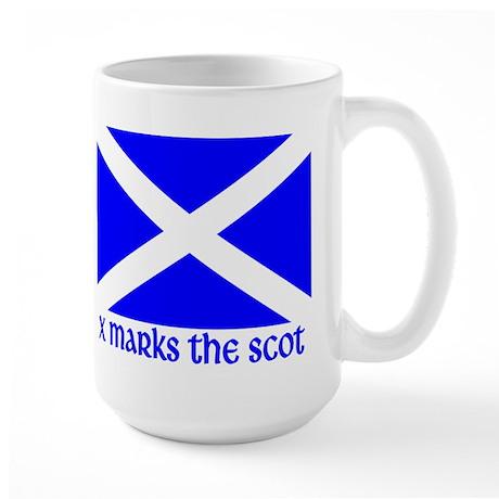 X Marks the Scot Large Mug