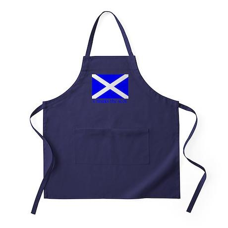 X Marks the Scot Apron (dark)