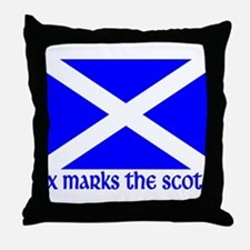 X Marks the Scot Throw Pillow