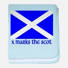 X Marks the Scot baby blanket
