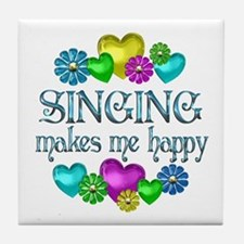 Singing Happiness Tile Coaster