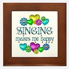 Singing Happiness Framed Tile
