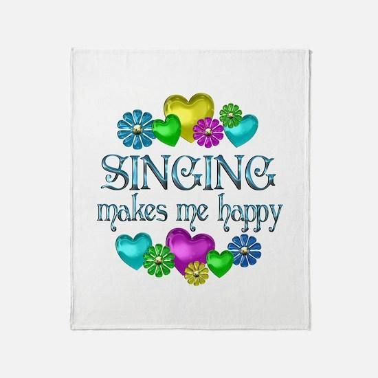 Singing Happiness Throw Blanket