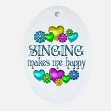 Singing Happiness Ornament (Oval)