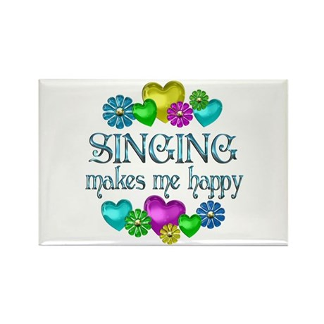 Singing Happiness Rectangle Magnet