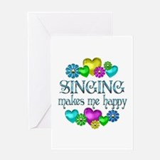 Singing Happiness Greeting Card