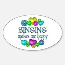 Singing Happiness Sticker (Oval)