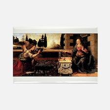 Da Vinci's Annunciation Rectangle Magnet (10 pack)