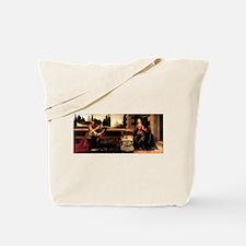 Da Vinci's Annunciation Tote Bag
