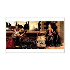 Da Vinci's Annunciation 22x14 Wall Peel