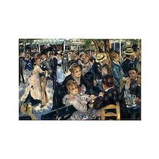 Renoir's Dance at Le moulin d Rectangle Magnet (10