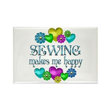 Sewing Happiness Rectangle Magnet (10 pack)
