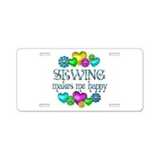 Sewing Happiness Aluminum License Plate