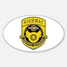 Highway Patrol Sticker (Oval)