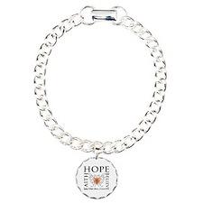 Hope Faith Multiple Sclerosis Charm Bracelet, One