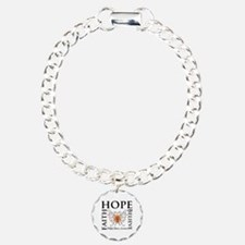 Hope Faith Multiple Sclerosis Charm Bracelet, One