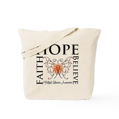Hope Faith Multiple Sclerosis Tote Bag