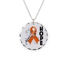 Hope Ribbon Multiple Sclerosis Necklace Circle Cha