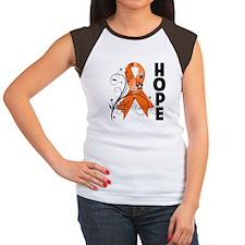 Hope Ribbon Multiple Sclerosis Women's Cap Sleeve