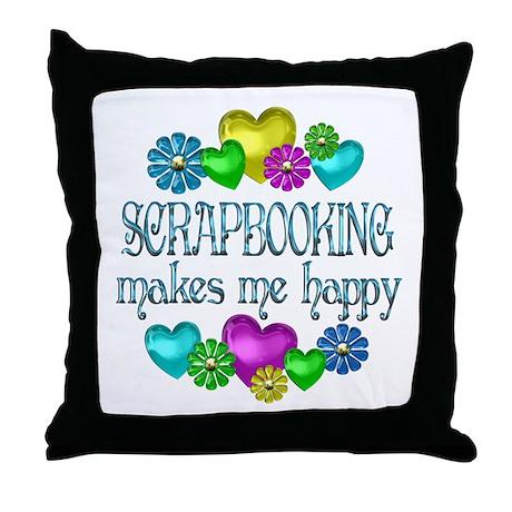 Scrapbooking Throw Pillow