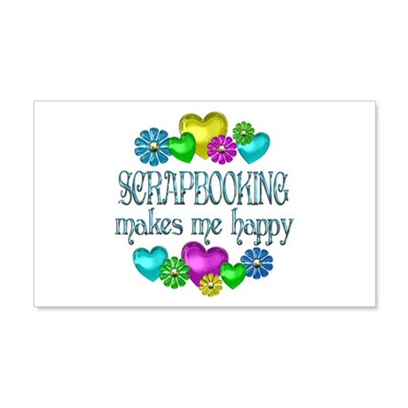 Scrapbooking 22x14 Wall Peel