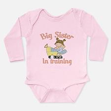 big sister in training Long Sleeve Infant Bodysuit