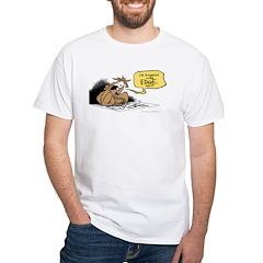 bob on the edge White T-Shirt