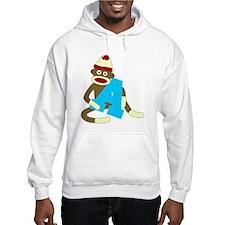 Sock Monkey Monogram Boy A Hoodie