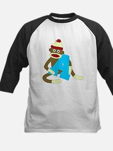Sock Monkey Monogram Boy A Tee
