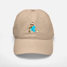 Sock Monkey Monogram Boy A Baseball Baseball Cap