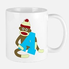 Sock Monkey Monogram Boy A Coffee Mug