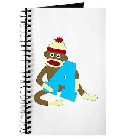 Sock Monkey Monogram Boy A Journal