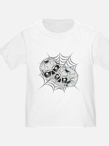 Spider Web Skulls T